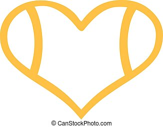 Tennis ball heart outline