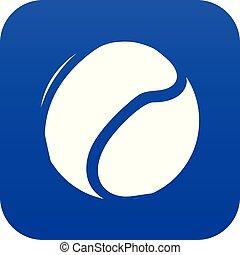 Tennis ball icon blue vector