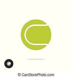 Tennis ball icon vector symbol isolated on white background clipart