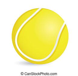 Tennis ball illustration design over a white background