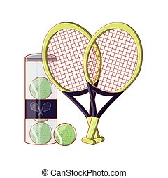tennis ball in bottle with rackets icon
