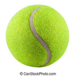 Tennis Ball isolated on white background. Clipping Path
