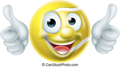 Tennis Ball Man Cartoon Character