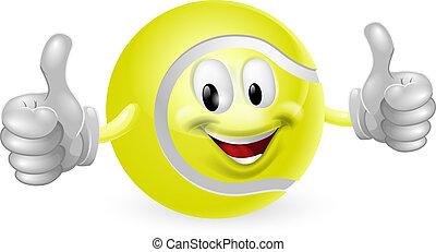 Tennis Ball Mascot - Illustration of a cute happy tennis...