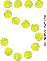Tennis Ball Number 5 - Tennis Ball Concept Number 5