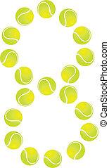 Tennis Ball Number 8 - Tennis Ball Concept Number 8
