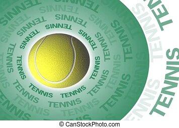 Tennis Ball On a Green Disk