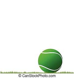 tennis ball on the grass illustrati