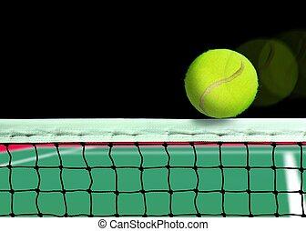 Tennis Ball on the Net