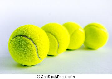 tennis ball on white background