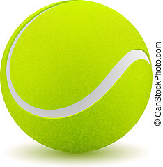 Tennis ball on white background. Vector illustration