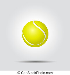 Tennis ball on white background with shadow