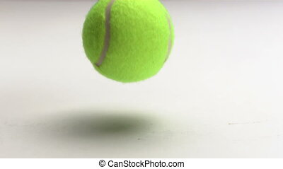 tennis ball rebounding - Tennis ball rebounding in slow...