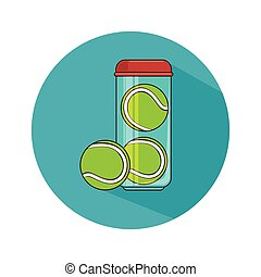 tennis ball sport icon