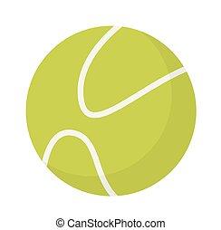 Tennis ball vector cartoon illustration.