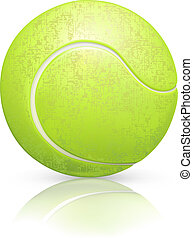 Tennis-ball, vector