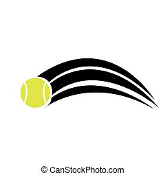 tennis ball vector icon