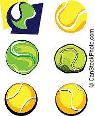Tennis Ball Vector Image Icons