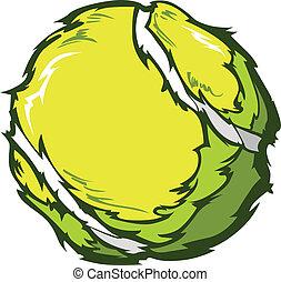 Tennis Ball Template Cartoon Vector Illustrations