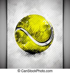 Tennis ball watercolor