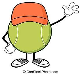 Tennis Ball Waving For Greeting