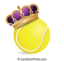 Tennis ball with a crown