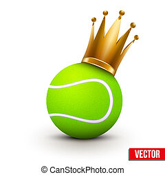 Tennis ball with royal crown of princess