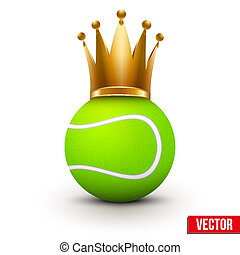 Tennis ball with royal crown of queen
