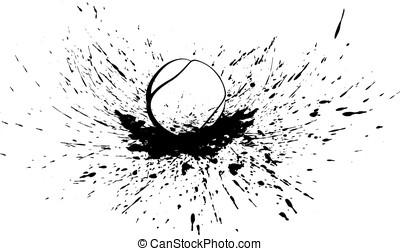Tennis Ball with Splatter