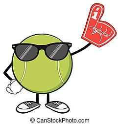 Tennis Ball With Sunglasses