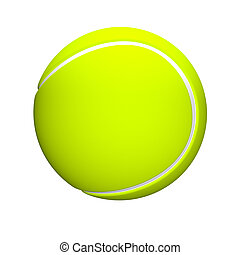 3D Tennis Ball isloated on a white background