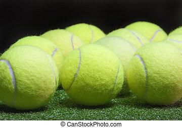 tennis, balls., concept, sport, abondance