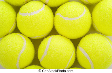 Tennis Balls on White