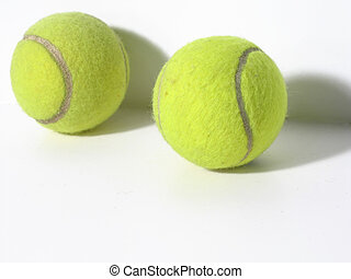 Tennis balls - Two tennis balls on white background