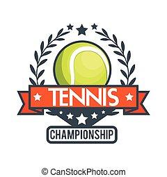 tennis championship ball star banner