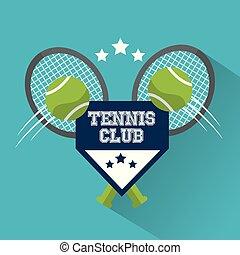 tennis club balls racket sport win design