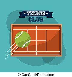 tennis club court speed ball sport banner