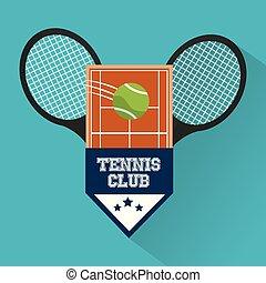 tennis club racket ball court emblem sport