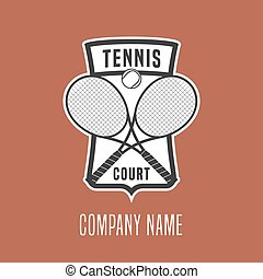 Tennis course vector logo