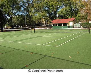 Tennis Court - Carlton Gardens, Melbourne, Australia