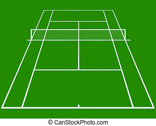Tennis court - tennis court layout in perspective