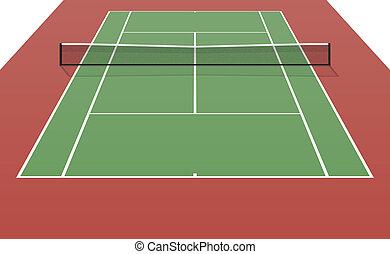 Tennis court illustration