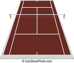 tennis court field in clay - tennis court field in clay...