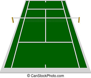 tennis court field in green