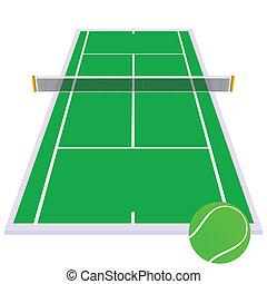 tennis court green