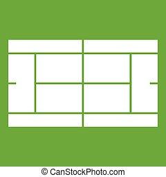 Tennis court icon green