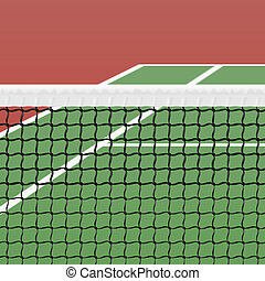 Tennis court illustration