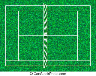 tennis court - Tennis court with grass texture. Vector...