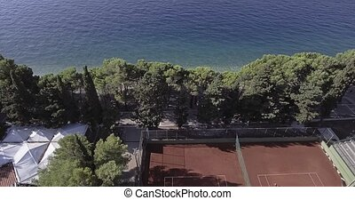 Tennis courts in Tucepi aerial view - Aerial view of the...