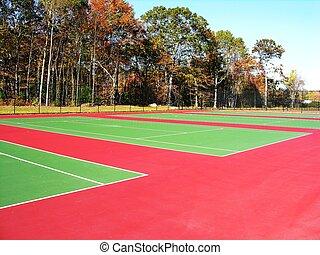 Tennis courts - Empty Tennis courts.